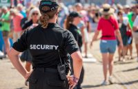 Harlingen,,The,Netherlands,-,August,5,2018:,A,Female,Security